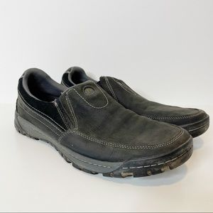 Merrell Traveler Rove Black Leather Slip-On shoe
